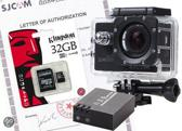 SJCAM™ SJ4000 WiFi in Black met extra accu en Kingston 32Gb Class 10 Micro-SD