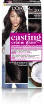 Loreal Paris Casting Creme Gloss - 200 Intens Zwart - Crèmekleuring