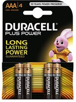 Duracell Plus Power AAA Alkaline Batterijen 4x Pak