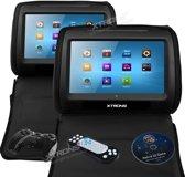 Xtrons HD908T DVD Hoofdsteun met 9 inch touchscreen
