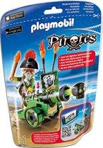 Playmobil Piratenkapitein met groen kanon  - 6162
