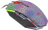 Bloody Blazing A7 optische Gaming Maus 4.000 DPI 8 programmiere Tasten mit Gleitfüssen aus Metall