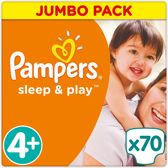 Pampers Simply Dry - Maat 4+ Jumbo Box 70 luiers