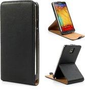 JavuCase - Samsung Galaxy Note 3 - Business Flip Stand Case Hoesje Zwart