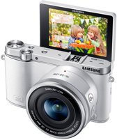 Samsung NX3000 + 16-50 mm Powerzoom - Systeemcamera - Wit