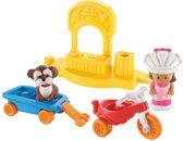 Fisher-Price Little People Driewieler met Wagentje - Speelfigurenset