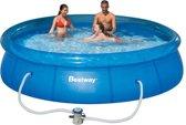 Bestway Fast Set Opblaasbaar Zwembad - 366 cm - Inclusief 12V Filterpomp