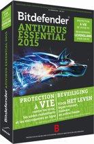 Bitdefender Antivirus Essential 2015 - Nederlands / Frans / 1 Gebruiker / Levenslang / DVD