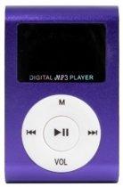 Mini MP3 Speler met LCD - Paars