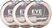 Etos Eyeshadow 009 - Bruin - 3 stuks - Oogschaduw