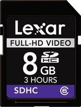 Lexar Full-HD SD kaart 8 GB