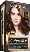 L'Oréal Paris Préférence Récital - 4.5 Mahonie Middenbruin - Haarkleuring
