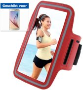 qMust Sport Armband Samsung Galaxy S6 - Red/Grey