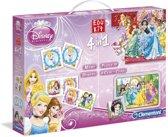 Clementoni Disney Princess 4-in-1 Spel