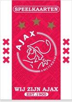 Speelkaarten ajax wit/rood/wit est 1900
