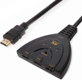 3-In 1-Out HDMI Switch with Pigtail Cable  (EverTech)