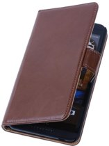 PU Leder Bruin HTC Desire 816 Book/Wallet Case/Cover Hoesjes