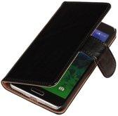 PU Leder Zwart Samsung Galaxy Alpha Book/Wallet Case/Cover Hoesje