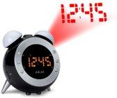 Akai AR280P - Wekkerradio met projectie - Zwart