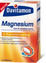 Davitamon Magnesium fit en actief overdag - 42 Tabletten - Voedingssupplement