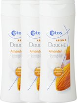 Etos Aroma Douche Amandel - 3 x 200 ml - Douchegel