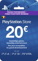 Belgische Sony PlayStation Network Voucher Card 20 Euro België - PS4 + PS3 + PS Vita + PSN