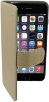 Suncia PREMIUM Leather5 Case / Boekvorm Hoes voor de Apple iPhone 6 Grijs