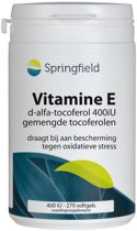 Springfield Vitamine E 400 IE - 270 softgels