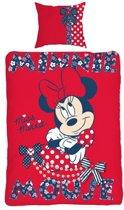 Minnie Mouse dekbedovertrek - Rood - 1-persoons (140x200 cm + 1 sloop)