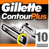 Gillette Contour Plus - 10 stuks - Wegwerpscheermesjes