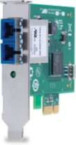 AT-2711FX-ST-001\100Mbps Fast Ethernet PCI-Express Fiber Adapter Card\ST Connector\Standard and Low Profile Brackets\Single Pack