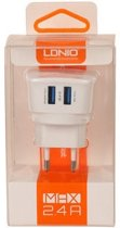 LDNIO - 2 USB Oplader Stekker Thuislader met LED - Toshiba Excite 10 SE