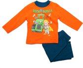 Bob de Bouwer Jongens Pyjama - Oranje/Blauw - Maat 116