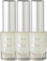 Etos Nailpolish 053 - White Bird - Feather - Wit - 3 stuks - Nagellak