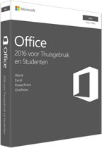 Microsoft Office 2016 Home & Student - Nederlands / Frans / Engels / Mac