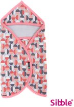 Sibble wikkeldeken / wrapper - SweetHeart Pink Retro - roze