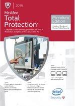 McAfee Total Protection 2015 - Nederlands / 1 Gebruiker / 3 Apparaten / 1 Jaar