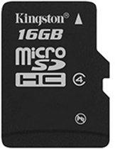 Kingston microSD kaart 16 GB