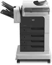 HP LaserJet M4555fskm MFP mono laser print copy scan 52/55ppm 1200dpi A4 1280MBPCL6 PCL5c PS level 3 SSD MASS storagenFAX ADF Duplex  Network  2100 sheets + s