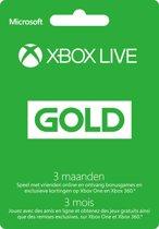 Microsoft Xbox Live Gold Abonnement - 3 Maanden (Xbox 360 + Xbox One)