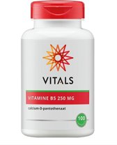 Vitals - Vitamine B5 250 mg - 100 capsules - Voedingssupplement