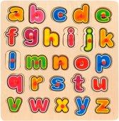 Houten Knopjespuzzel Alfabet - Puzzel Alfabet Letters