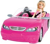 Barbie Cabrio met Barbie pop - Barbie auto - Roze