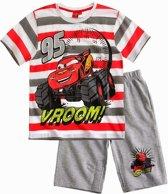 Cars T-Shirt en Bermuda - Rood; Grijs -  Maat 98; 3 jaar