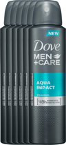 Dove aqua impact Men + Care  - 150 ml - deodorant spray - 6 st - Voordeelverpakking