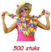 Vrolijk gekleurde Hawaii kransen 500 stuks