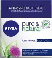 NIVEA Pure & Natural Anti-Ag - 50 ml - Nachtcrème