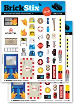 Brickstix Stix: rescue 84 stickers
