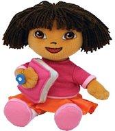 Dora schoolgirl pluche beanie knuffel 18cm