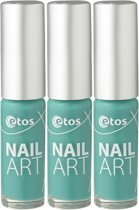 Etos Nailart 090 - Groen - 3 stuks - Nagellak